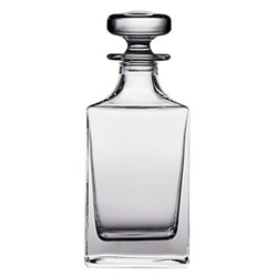 Square spirit decanter, H22cm - 65cl, clear