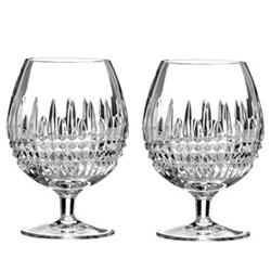 Lismore Diamond Pair of brandy glasses