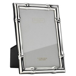 "Wide Bamboo Photograph frame, 8 x 10"", silver"