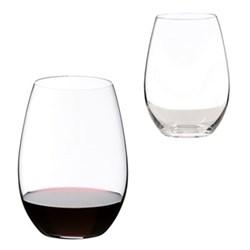 O Pair of syrah/shiraz wine tumblers, H13.2 x D9.5cm - 62cl