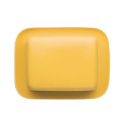 Sunny Day Butter dish with lid, yellow