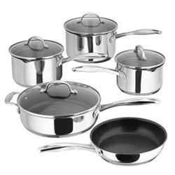 7000 5 piece draining saucepan set , 16-26cm, stainless steel