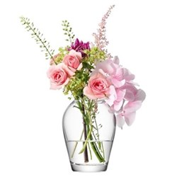 Flower Mini bouquet vase, 9.5cm, clear