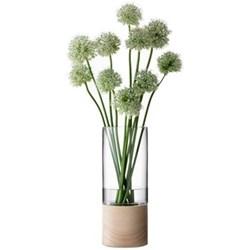 Lotta Vase with ash base, 36cm, clear