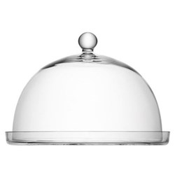 Vienna Plate and dome, D33 x H30cm, clear