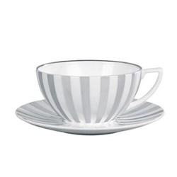 Platinum Teacup, striped
