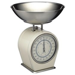 Living Nostalgia Mechanical scales, 4Kg, cream