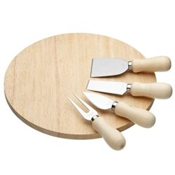 Cheese serving set with board and 4 servers