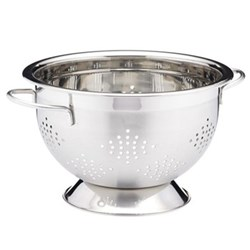 Colander with 2 handles, 27cm, satin finish