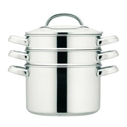 Multi-steamer, 20cm/3.8 litre, stainless steel with glass lid