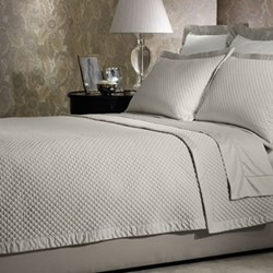Wyatt - Cotton Super king bed cover, W45 X L280cm, silver