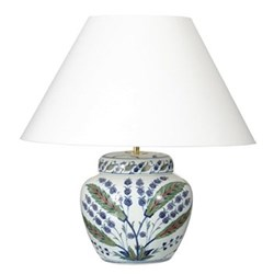 Iznik Urn table lamp - base only, H26 x D23cm
