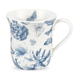 Botanic Blue Set of 6 mugs, 35cl