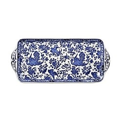 Regal Peacock Sandwich tray, 28cm, blue
