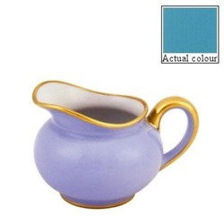 Sous le Soleil Creamer round, 20cl - 12 cup, turquoise with classic matt gold band