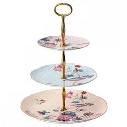 Harlequin Collection - Cuckoo Tea Story 3 tier cake stand