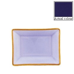 Sous le Soleil Vide poche solid colour, 11 x 9cm, cobalt blue with classic matt gold band