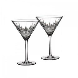 Lismore Diamond Pair of martini glasses