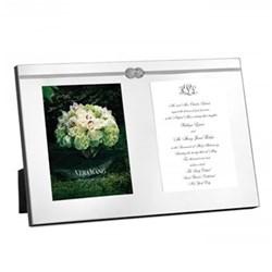"Vera Wang - Infinity Double photograph frame, 5 x 7"""