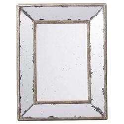 Versailles Mirror, H31 x W23cm, distressed metal frame