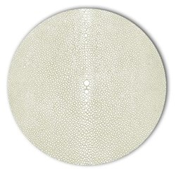 Acrylic - Shagreen Print Set of 4 round coasters, 10cm, pistachio