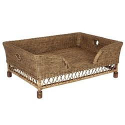 Mattaban Pet bed, W75 x D107 x H42cm, rattan