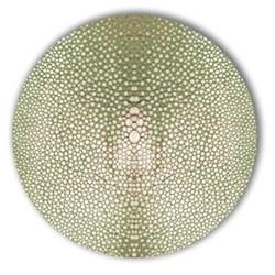 Acrylic - Shagreen Print Set of 4 round coasters, 10cm, olive