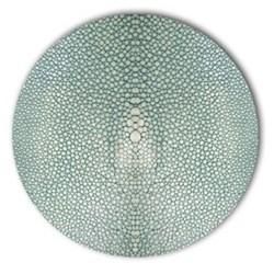 Acrylic - Shagreen Print Set of 4 round coasters, 10cm, turquoise