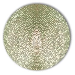 Acrylic - Shagreen Print Set of 4 round tablemats, 25cm, olive
