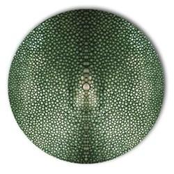 Acrylic - Shagreen Print Set of 4 round tablemats, 25cm, verde