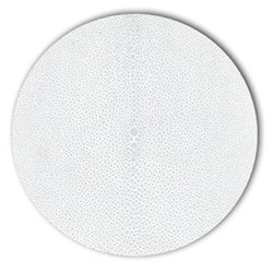 Acrylic - Shagreen Print Set of 4 round tablemats, 25cm, parma grey