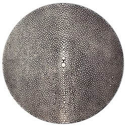 Acrylic - Shagreen Print Set of 4 round tablemats, 25cm, charcoal