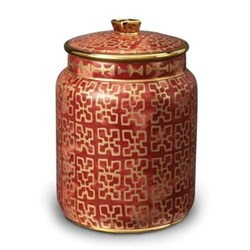Fortuny Canister, small - 11 x 18cm, ashanti red