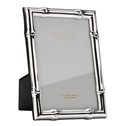 "Wide Bamboo Photograph frame, 5 x 7"", silver"
