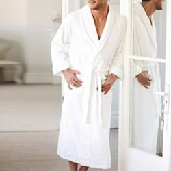 Classic Cotton Bath robe, small, white
