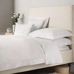 Savoy - 400 Thread Count Egyptian Cotton Emperor duvet cover, W290 x L235cm, white