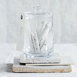Tall container, H14.5 x W10cm, clear glass