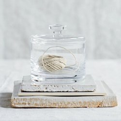 Small container, H12.5 x W12cm, clear glass