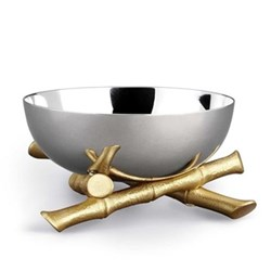 Bambou Bowl, 10cm, gold plate and stainless steel