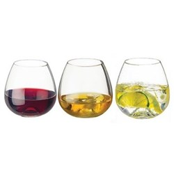 WWW Set of 3 tumblers, 9.5cm, clear