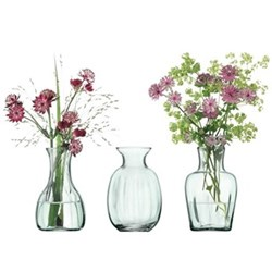 Mia Mini vase trio, 11cm, recycled glass