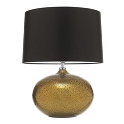 "Galileo Table lamp with 18"" drum shade, 58.5cm with shade, Gold with premium satin mocha shade"