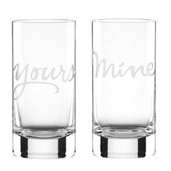 Two of a Kind - Yours and Mine Pair of highball glasses