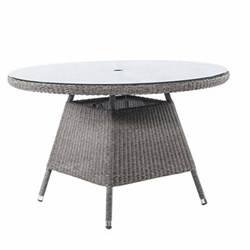 Monte Carlo Table with glass top, 120cm, mid grey