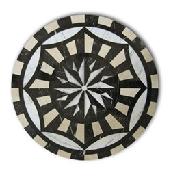Acrylic - Marble Star Inlay Set of 4 round tablemats, 25cm