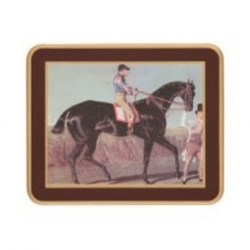 Traditional Range - Racehorses Set of 6 coasters, 11 x 9cm, regal red