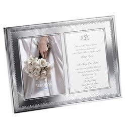 Vera Wang - Grosgrain Double invitation frame, 5 x 7""