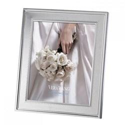 "Vera Wang - Grosgrain Photograph frame, 8 x 10"", silver plate"