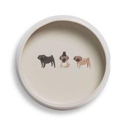 Pug Dog bowl, D18 x H6cm
