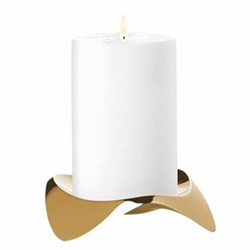 Papilio Uno by Klaus Rath Candleholder, H12cm, brass